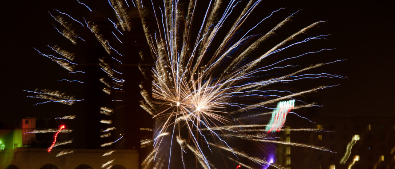 Fireworks viewed from Signal Industries