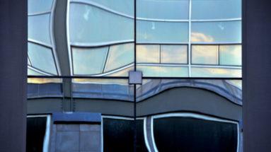 Portland Maine Window Reflection