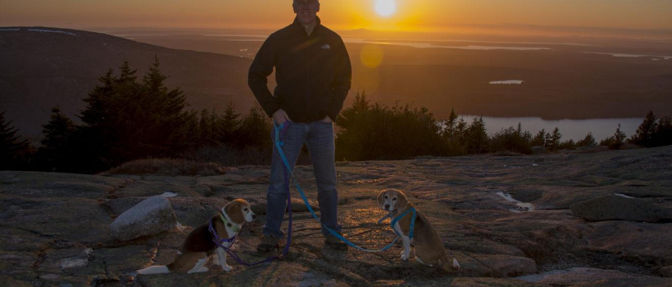 Acadia National Park Cadillac Mountain Randy Foster Lucy Dixie Sunset