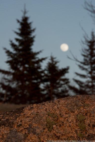 Acadia National Park Cadillac Mountain Moon Rise