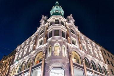 Building on Karl Johans gate by Steven Michael Martin