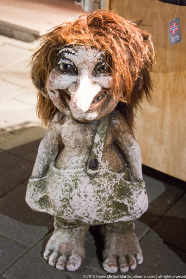 a troll is a fearsome member of a mythical anthropomorphic race from Norwegian folklore by Steven Michael Martin