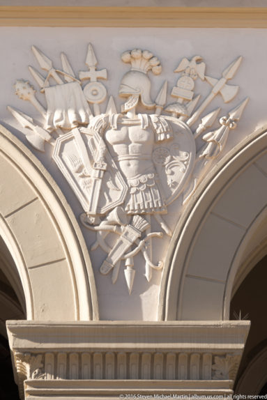 Coat of Arms at Det Kongelige Slott (The Royal Palace) by Steven Michael Martin