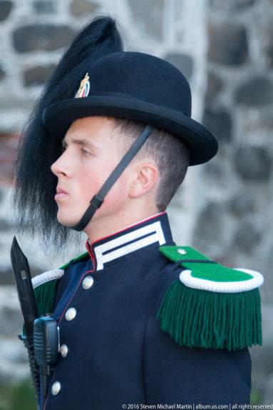 Guard at Akershus slott og festning (Castle and Fortress) by Steven Michael Martin