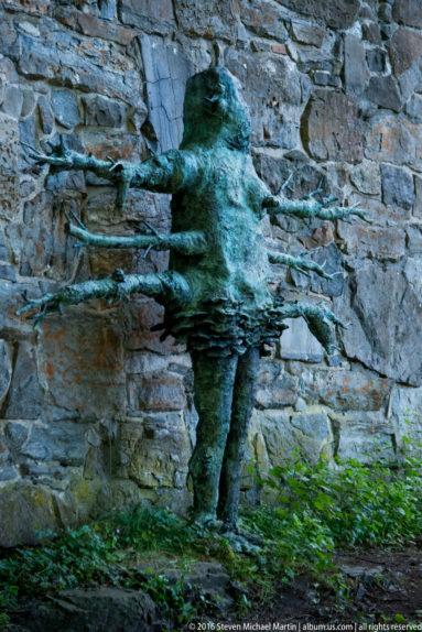 Sculpture at Akershus slott og festning (Castle and Fortress) by Steven Michael Martin