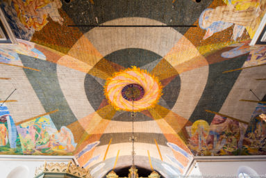 Ceiling decorations of Oslo Cathedral (Oslo domkirke) by Norwegian painter Hugo Lous Mohr
