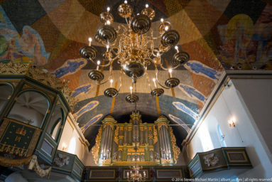 Ceiling decorations of Oslo Cathedral (Oslo domkirke) by Norwegian painter Hugo Lous Mohr by Steven Michael Martin