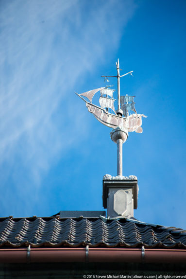 Weathervane on Steeple of Oslo Cathedral (Oslo domkirke) by Steven Michael Martin