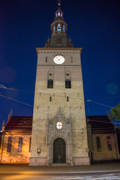 Front of Oslo Cathedral (Oslo domkirke) by Steven Michael Martin