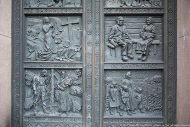 West portal bronze doors by Dagfin Werenskiold in 1938 by Steven Michael Martin