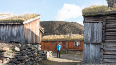 Scott among Traditional Timber building with sod roof by Steven Michael Martin