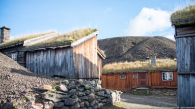 Traditional Timber building with sod roof by Steven Michael Martin