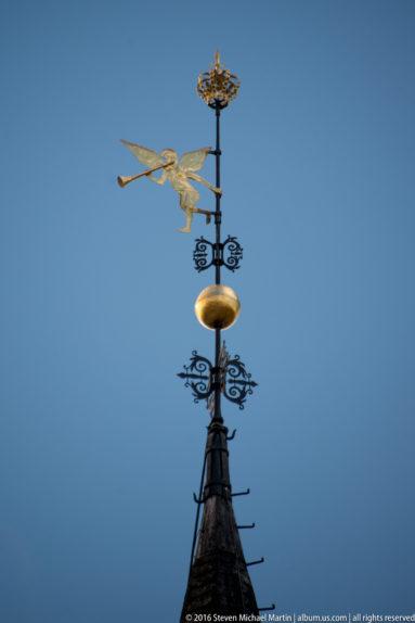 Steeple of Roros Church by Steven Michael Martin