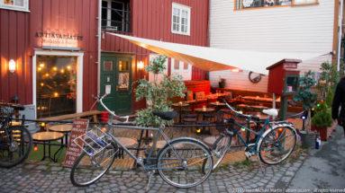 Old Streets of Baklandet in Trondheim by Steven Michael Martin