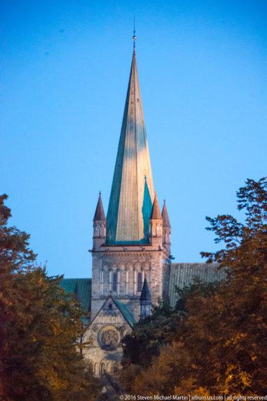 Nidaros Domkirke (Nidaros Cathedral) in Trondheim by Steven Michael Martin