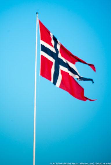 Flag at Kristiansten Festning by Steven Michael Martin