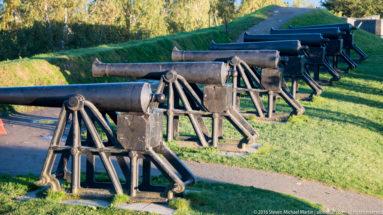 Cannons at Kristiansten Festning by Steven Michael Martin