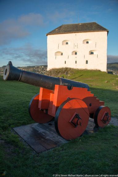 Cannon at Kristiansten Festning by Steven Michael Martin