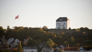 View of Kristiansten Festning in distance by Steven Michael Martin