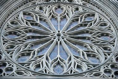 Detail of Nidaros Domkirke (Nidaros Cathedral) in Trondheim by Steven Michael Martin