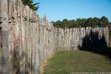 Stockade fence at Jamestown fort by Steven Michael Martin at album.us.com
