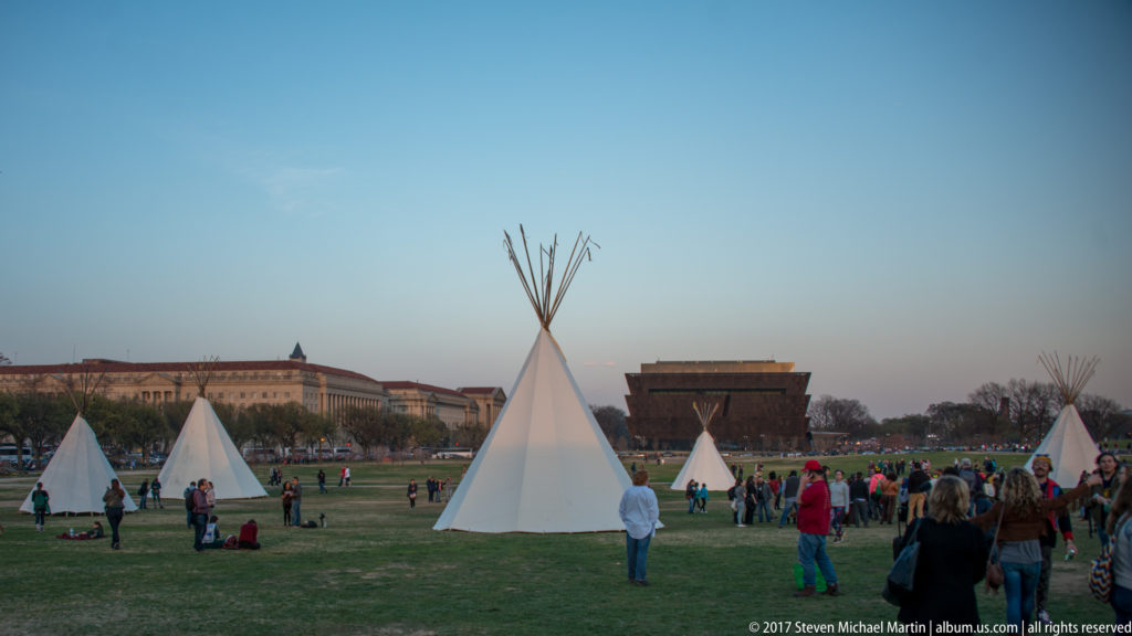 Teepees on National Mall